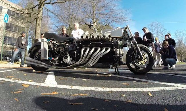 Here's What a Lamborghini V-12 Stuffed Into a Motorcycle Looks Like