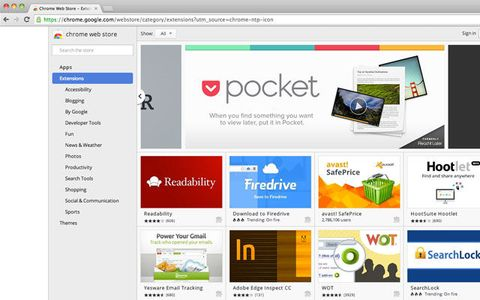 chrome web store avast