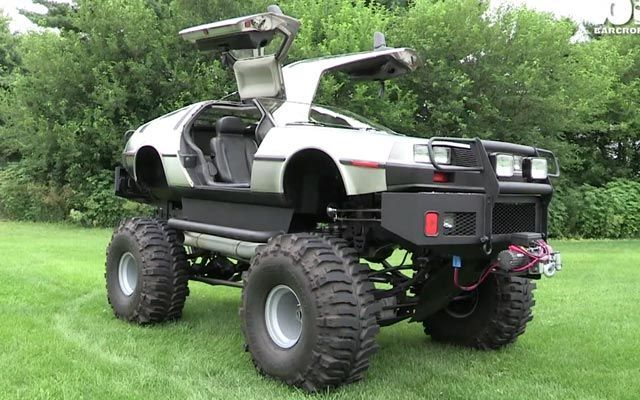 Watch This Man Turn a DeLorean Into a Monster Truck, a Limo, and a Hovercraft