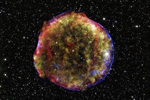 Supernovae are the primary source of cosmic rays.