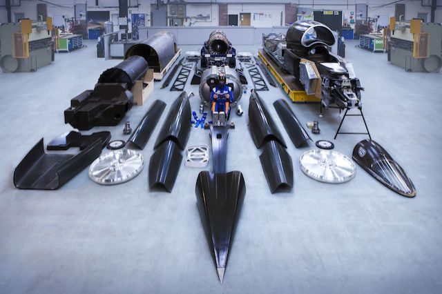 Here's What the 1,000-Mph Car Looks Like in Pieces