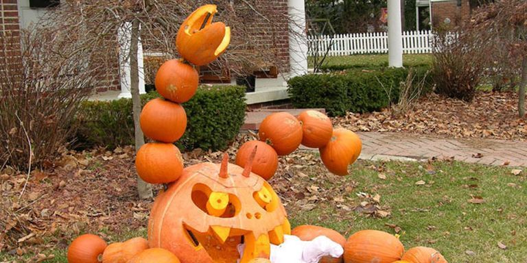 these twisted halloween pumpkins will inspire your next carving session