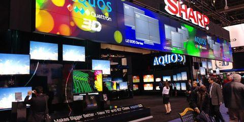 Display device, Logo, Technology, Signage, Flat panel display, Television, Television set, Advertising, Led-backlit lcd display, Trade,