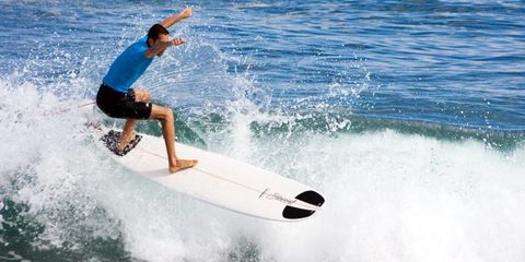 Surfing Equipment, Surfboard, Fun, Surface water sports, Recreation, Leisure, Standing, Elbow, Boardsport, Wave,