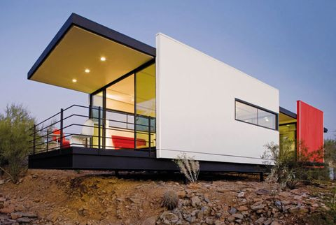 taliesin mod.fab small eco house in desert