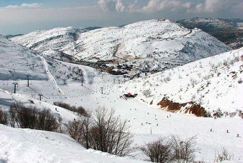 Mountainous landforms, Winter, Slope, Mountain range, Snow, Freezing, Highland, Mountain, Terrain, Hill,
