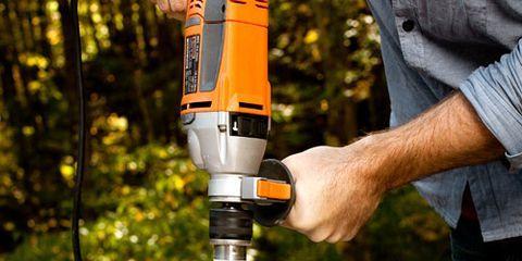 Shirt, Denim, Drill, Machine, Tool, Pneumatic tool, Drill accessories, Power tool, Rotary tool, Handheld power drill,