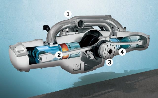 The Lighter, Better, More Efficient Two-Stroke Engine