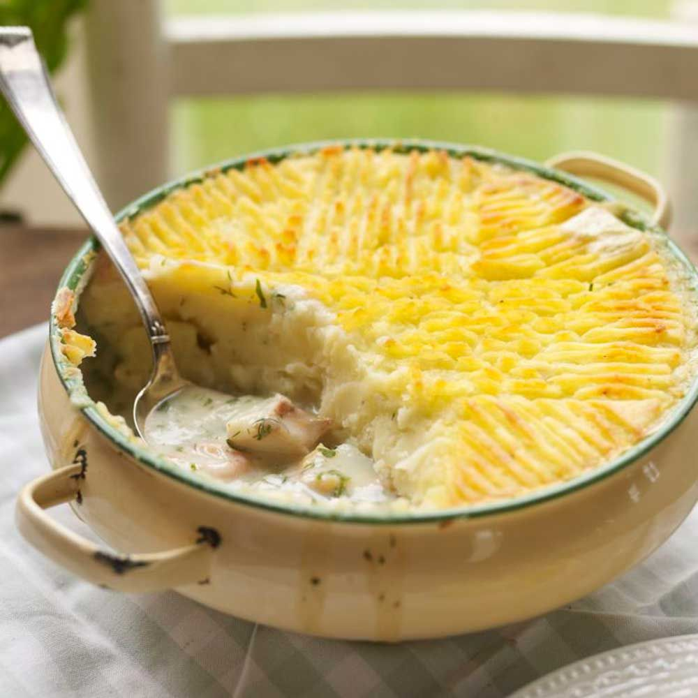 Pie with fish and potatoes - nourishing and tasty 89