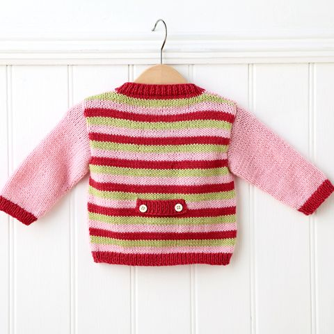 DIY gifts:How to knit a baby cardigan