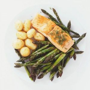 Grilled Salmon Asparagus With Grated Egg