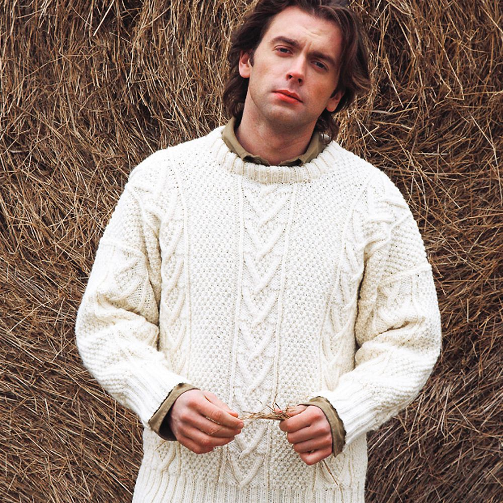 Knit A Real Man\'s Classic: Free Aran Jumper Knitting Pattern