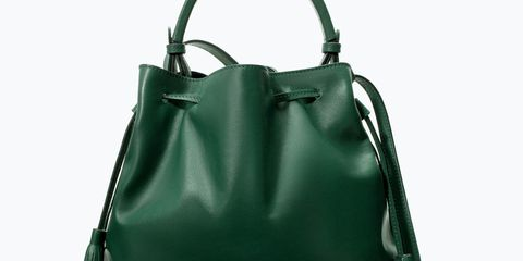 Try out the colour-blocking trend with this bright bag, £69.99, Zara
