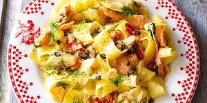 Smoked trout and dill pasta