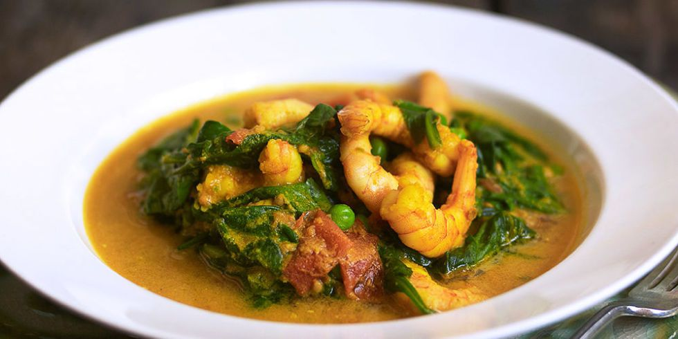 Prawn Curry With Spinach