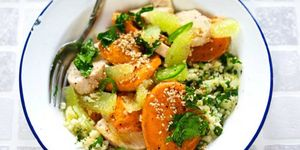 Sweet potato chicken salad