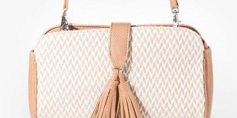 Stradivarius herringbone pattern handbag