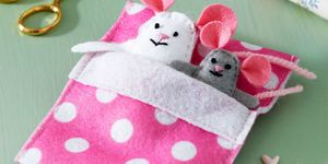 Felt mice craft for kids