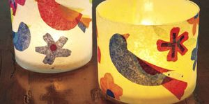 Decoupage tea lights