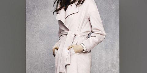 Wallis Pink Belted Coat