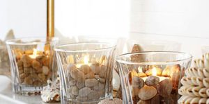Pebble tealights