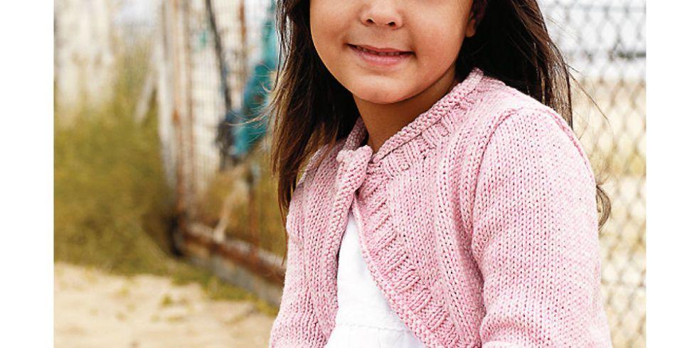 Super-Cute Shrug Knitting Pattern For A Little Girl