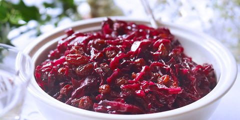 Red cabbage with sultanas