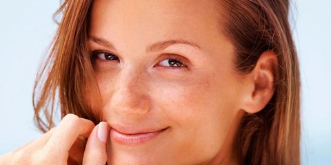 Woman summer tan