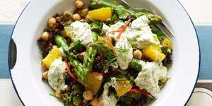 Lentil chickpea salad