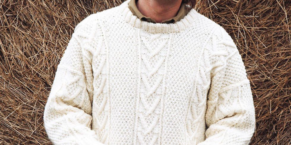 Knit A Real Man\'s Classic: Free Aran Jumper Knitting Pattern
