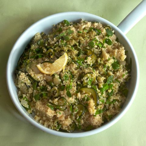 Bulgar wheat and courgette risotto