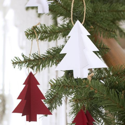 paper christmas tree decorations