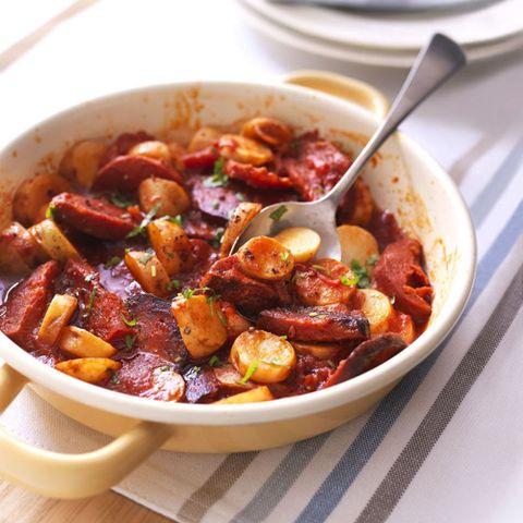 Chorizo, Potato and Tomato Hot Pot