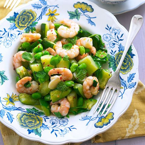 Prawn and courgette with bulgar wheat