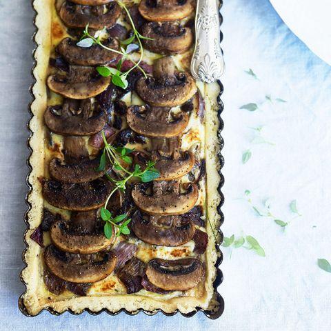 Mushroom and thyme tart
