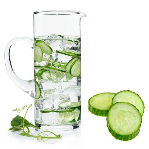 Jug of cucumber water