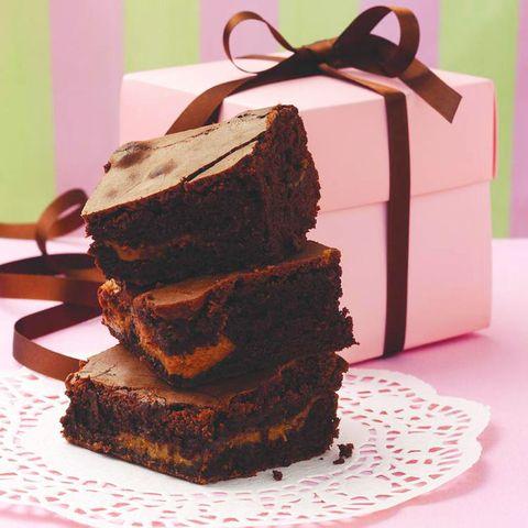 Caramel chocolate brownies
