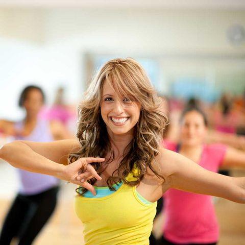 Woman dance class