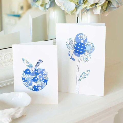 Patchwork flower cards