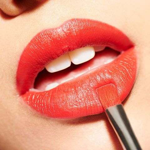 Woman red lips