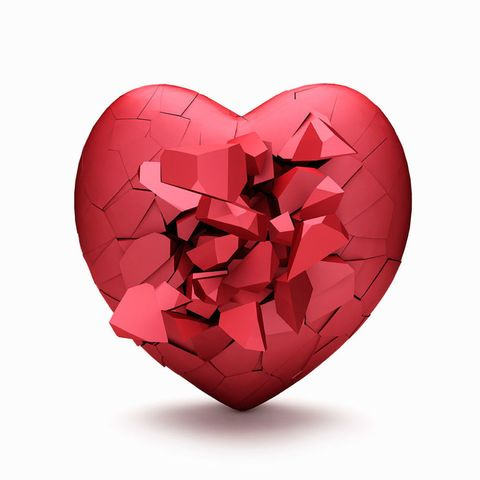 Shattered heart symbol