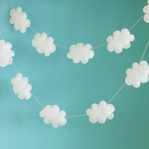 Cloud baby mobile to sew