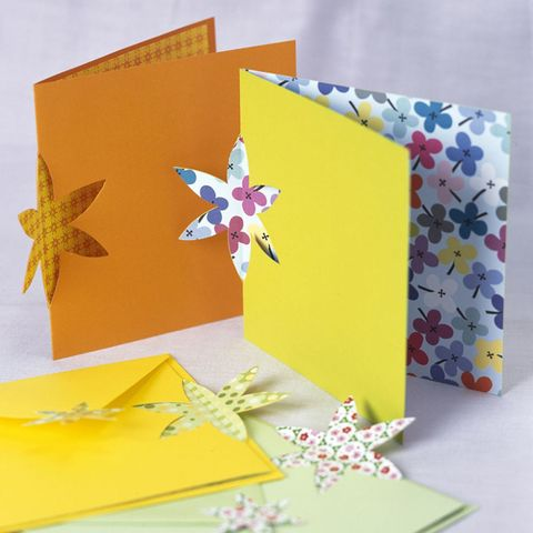 Flower cutout cards to make