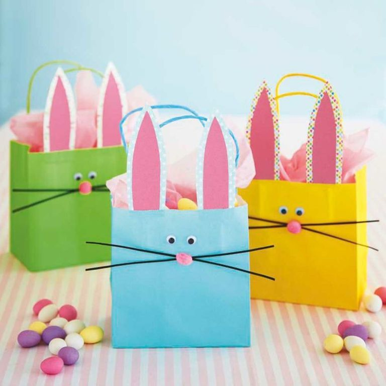 Take these bunny gift bags on a fun easter egg hunt kids will love gathering up their easter eggs in these cute little bags and theyll love hiding them away from parents prying eyes even more negle Images