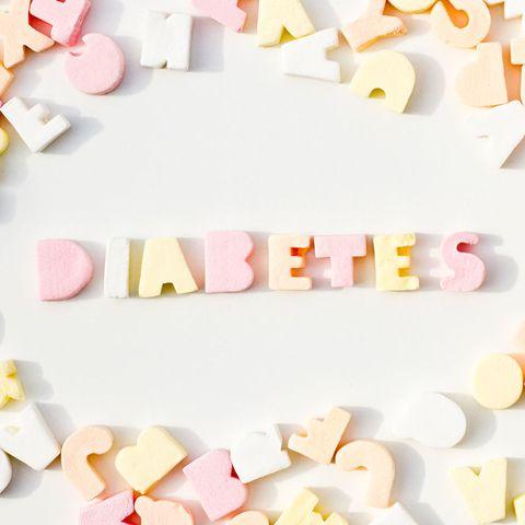 'Diabetes' spelt in sweets