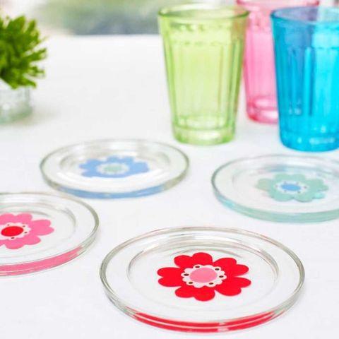 Flower coasters