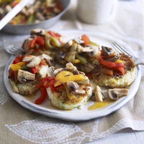 Potato cakes with vegetables