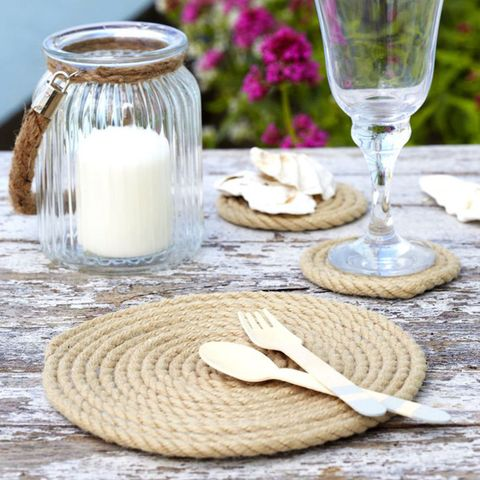 Rope placemats and coasters
