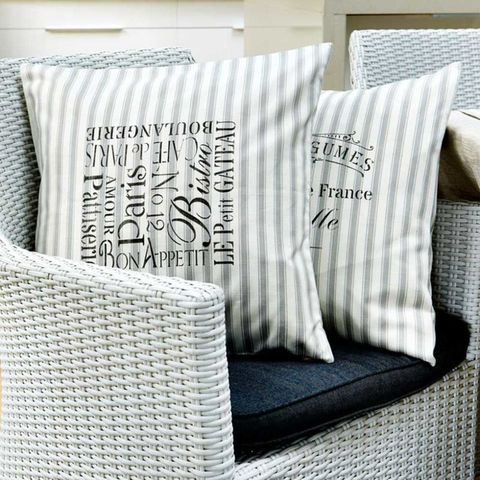 Stencil cushion covers