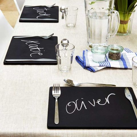 Chalkboard table placemats